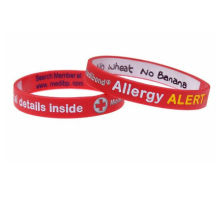 Red / Pink / Black Customized Silicone Bracelets Suit For Promotion Gifts