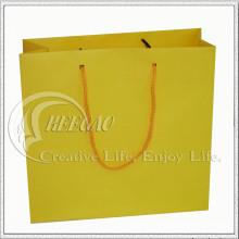 Sac en papier jaune (KG-PB038)