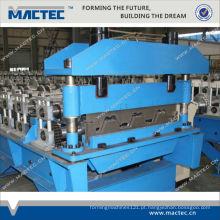 Padrão europeu de alta qualidade galvanizado corrugado deck de piso de metal dá forma à máquina