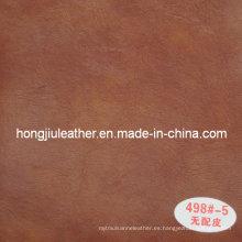 Cuero artificial de alta calidad para muebles (Hongjiu-498 #)