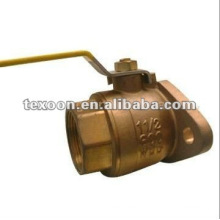 Brass Flange fitting ball valve CXC end available