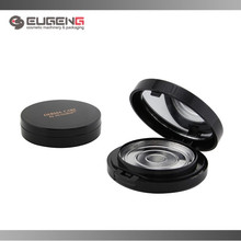 Round shape empty compact powder container cosmetics packaging