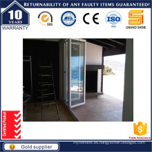 Puertas plegables de aluminio artesanales con deslizamiento suave