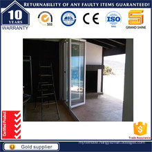 Sliding Folding Door with Security Double Glass Door