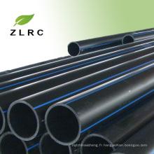 Tuyau de HDPE de 12 pouces, prix en gros de tuyau de HDPE de fabricant