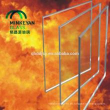 Panel de vidrio resistente al fuego 8mm10mm12mm15mm19mm con certificado
