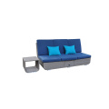 Sun Lounger 4-Position Adjustable Back Rests Sofa