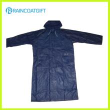 Impermeables 100% de los hombres de la capa del PVC del poliéster (RPY-041)