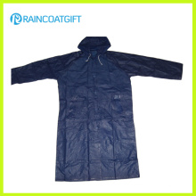 100% Polyester PVC Coating Men′s Raincoats (RPY-041)