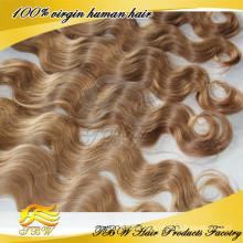 Blondes russisches Haar des reinen Menschenhaars 100% für Modefrau MOQ 1 Stück