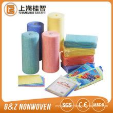 Rouleau de tissu de spunlace non tissé de fabricant de la Chine pour le nettoyage facile