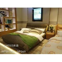 Moldura de cama de madeira maciça