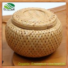 Bamboo Weave Tea Jar Canister Crates Barrel