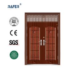 Дешевые нестандартные стальные двери с окном воздуха (РА-S182)