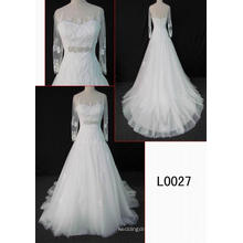 Long Sleeves Fashion Lace Bridal Wedding Dress