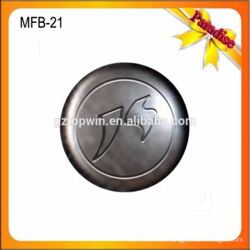 MFB20 Venta al por mayor nuevo metal de latón antiguo botón de jeans y remaches de 17 mm con logotipo grabado