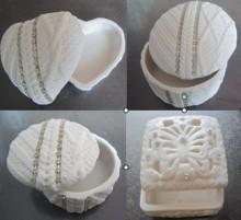 Ceramic Heart Box for Valentine's Day