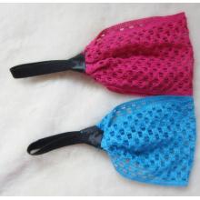 Grote Mesh breien effen kleur elastische Hair Bands hoofdband