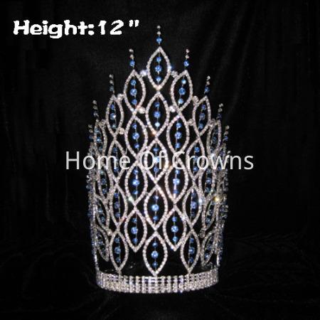 Coronas grandes de 12 pulgadas con grandes coronas de diamantes de cristal