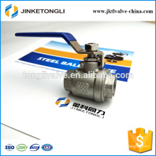 JKTL2B005 manufacture 2 piece float teflon ss316 one inch ball valve