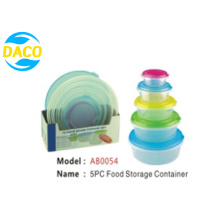 High Quality 5PC Fresh-Keeping Container Set for Kitchen Cutlery