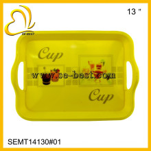 2017 new style melamine tray with handle