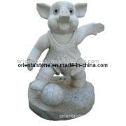 White Grantie Marble Stone Carving Sculpture for Garden