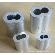 Virole en aluminium sans couture de sablier