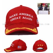 Chapeau promotionnel de chapeau de baseball de publicité de logo d'OEM pour le vote