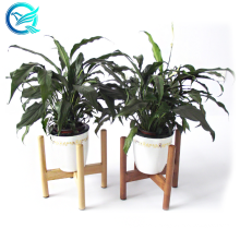 Qinge Premium Quality Bamboo Plant Holder Easy To Assemble Bamboo Solid Plant Pot Stand Holder
