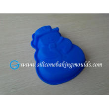 Christmas Snow Man Nonstick Blue Silicone Cake Mould For Cupcakes