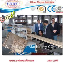 Chaîne de production composée en plastique en bois de profils de WPC