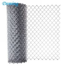 Factory Price Wholesale BlackPowder Coated Chain Link Fence