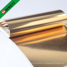 folha de carimbo quente do ouro usada no vestuário