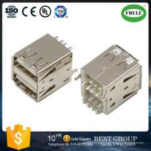 Rj Connector USB Connector Doub; Conector USB E