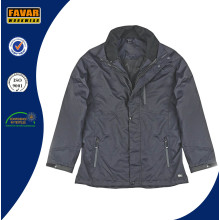 Nylon Waterproof Rain Jacket with Detached Padded Lining