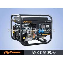 5kw / 5kva 50HZ Ar refrigerado mais baixo consumo elétrico começam o jogo do gerador da gasolina o frame aberto