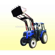 Tracteur agricole à 4 roues motrices avec chargeur frontal