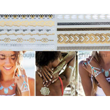 Custom Water Proof Eco Friendly Gilding Temporary Tattoo Decals Sticker
