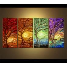 Pintura a óleo decorativa da paisagem