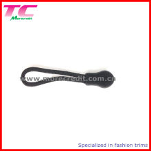 Black Plastic String Zipper Puller for Backpack