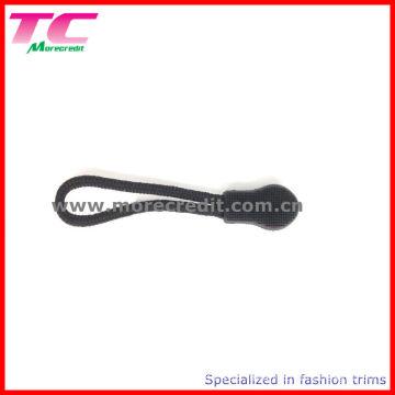 Black Plastic String Zipper Puller for Backpack