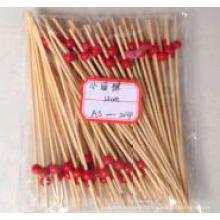 Маленький закругленный бамбуковый вертел / палочка