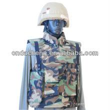 Veste tactile à l'épreuve des balles avec protection de l'épaule et du collier