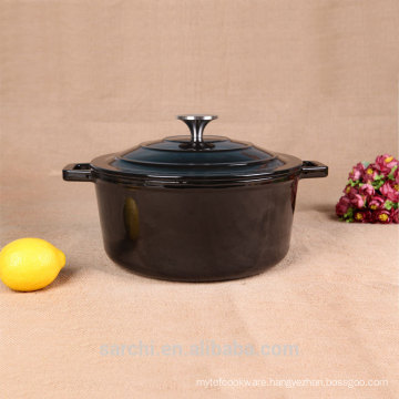 Chinese casseroles food warmers mirror pot bright black