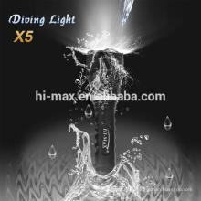 Cree t6 mini lampe t6 lampe de poche boîtier en aluminium
