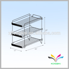 Boden Standing Food Box Metall Draht Display Rack für Shop Pushing Sale