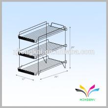 Floor Standing Food Box Metal Wire Display Rack para loja Pushing Sale
