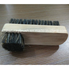 Wooden Base Horse Hair and Plastic Mixture Shoe Brush (YY-493)