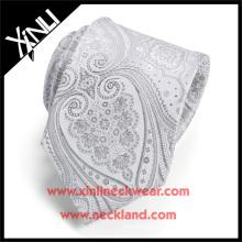 Nettoyage à sec seulement polyester gros cravate tissé Paisley tissu pas cher